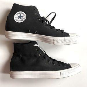 High top black and white CONVERSE
